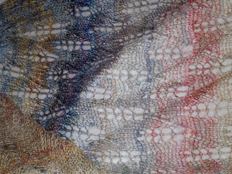 More wearble Handspun art works by Joan Dicker